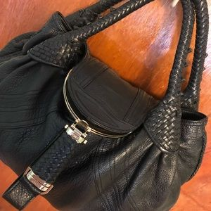 Fendi spy bag black leather